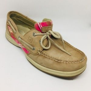 Sperry Top-Sider Intrepid Tan with Pink Plaid